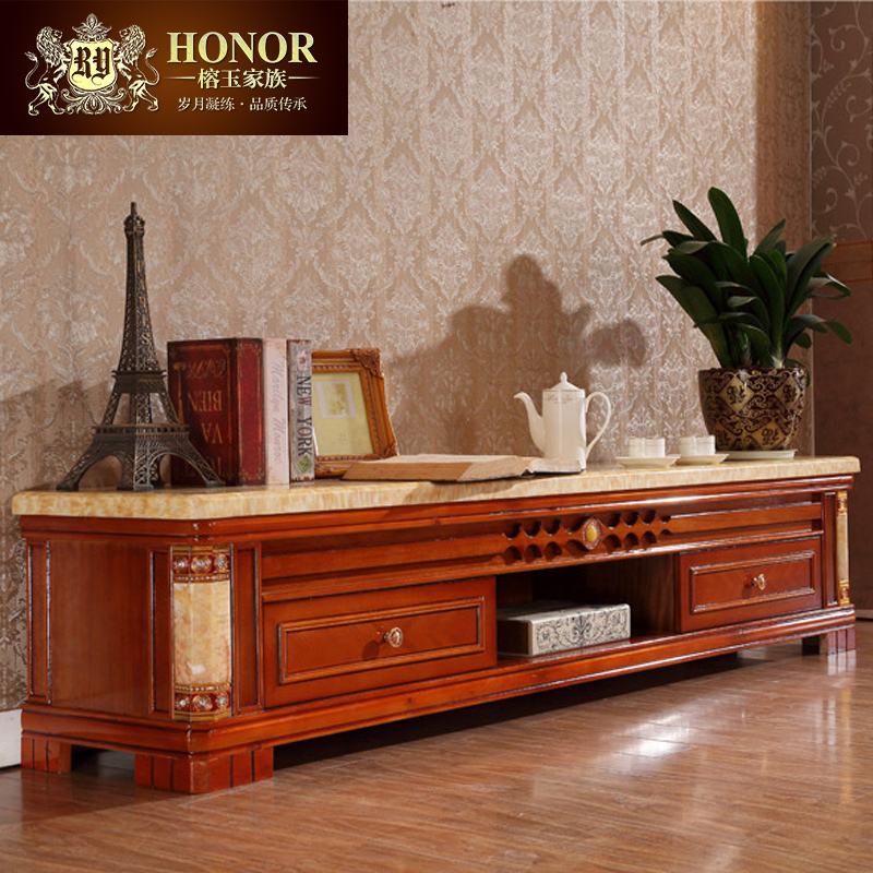 Yung yu family of natural marble wood tv cabinet to cabinet tv cabinet coffee table combination living room furniture c803