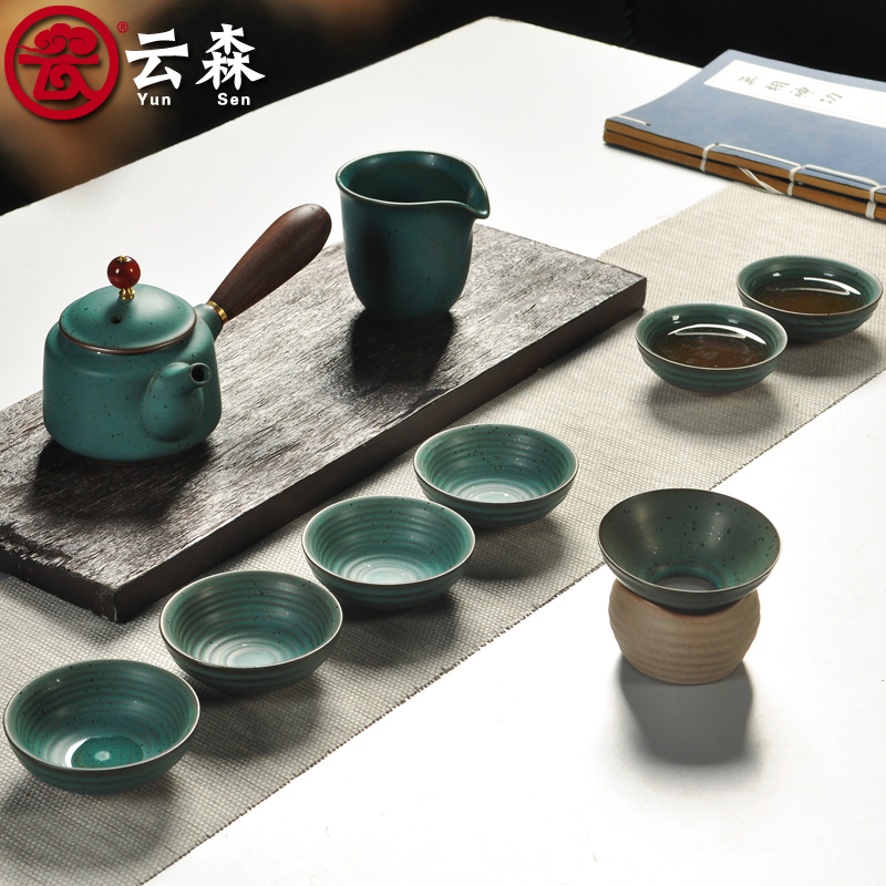 Yunsen celadon kung fu tea set special kung fu tea cup teapot tea sea tureen side of the pot
