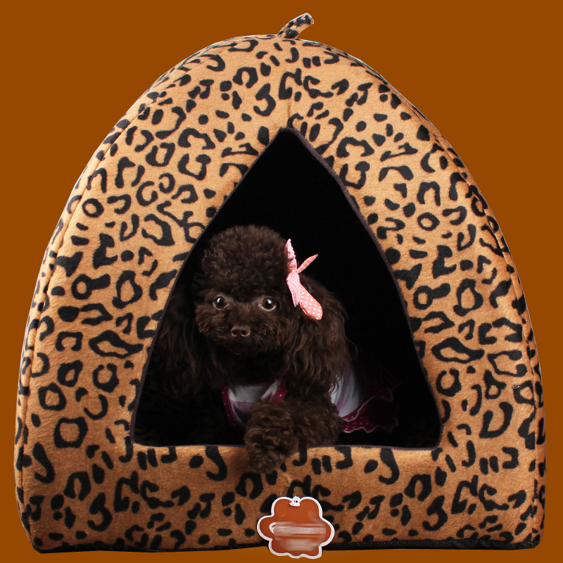 Yurt kennel pet warm nest expensive bimbo us teddy leopard cat litter kennel cat house with a mat free shipping