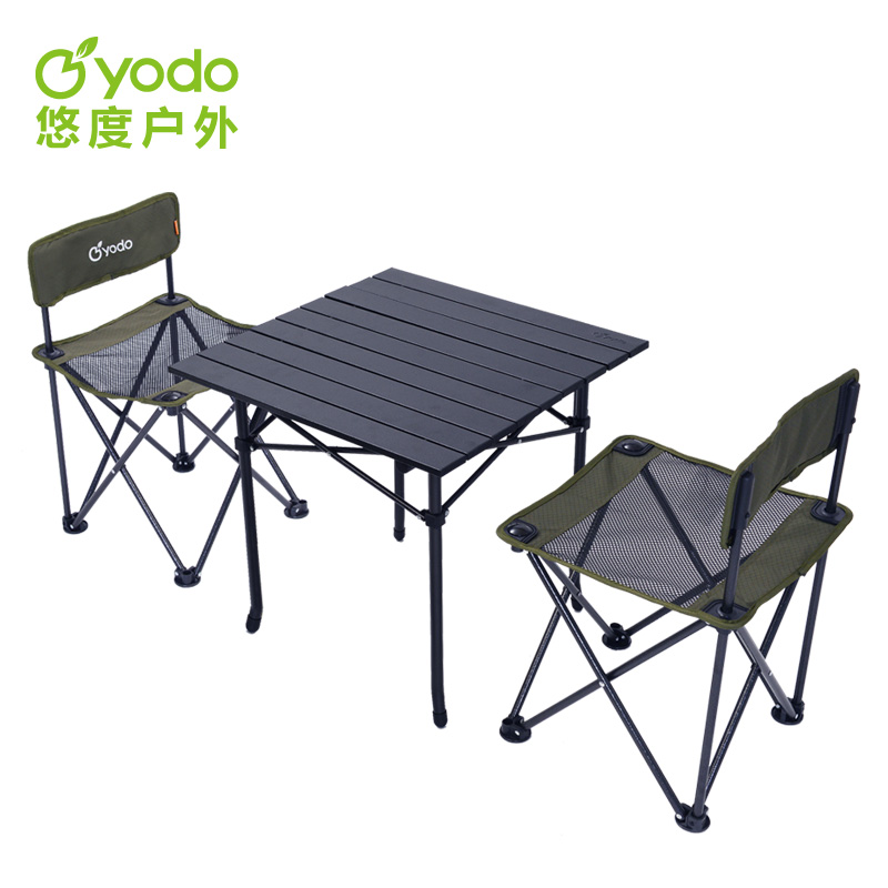 Yuu degree outdoor folding tables and chairs combination parure portable folding tables and chairs barbecue picnic outdoor beach