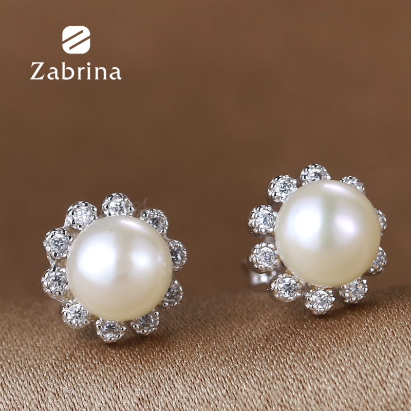 Zabrina fashion silver jewelry 925 silver earrings mother of pearl natural pearl earrings can be love jewelry sunflowers