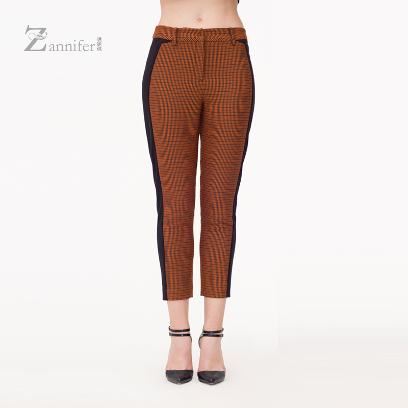 Zanni schäfer/zan borderies buddha 2016 autumn wool stitching 9 points casual pants leggings women