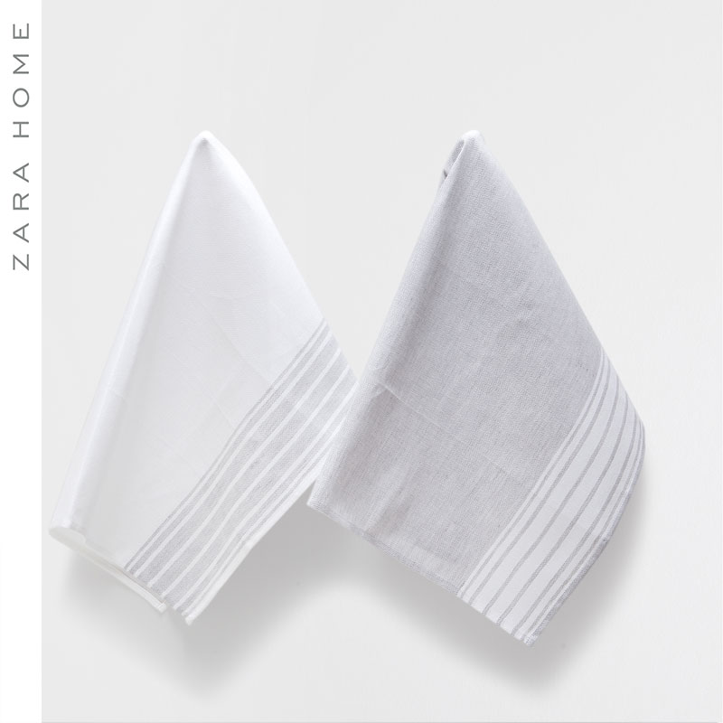 Zara home striped cloth kitchen cloths (2 sets) 40521026802