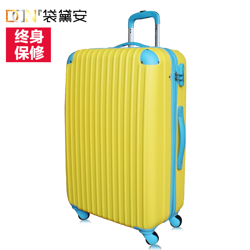 Zd/bag diane hit color trolley suitcase korea suitcase caster inch 24 men and women 20-inch 24-inch board chassis suitcase 20 Box