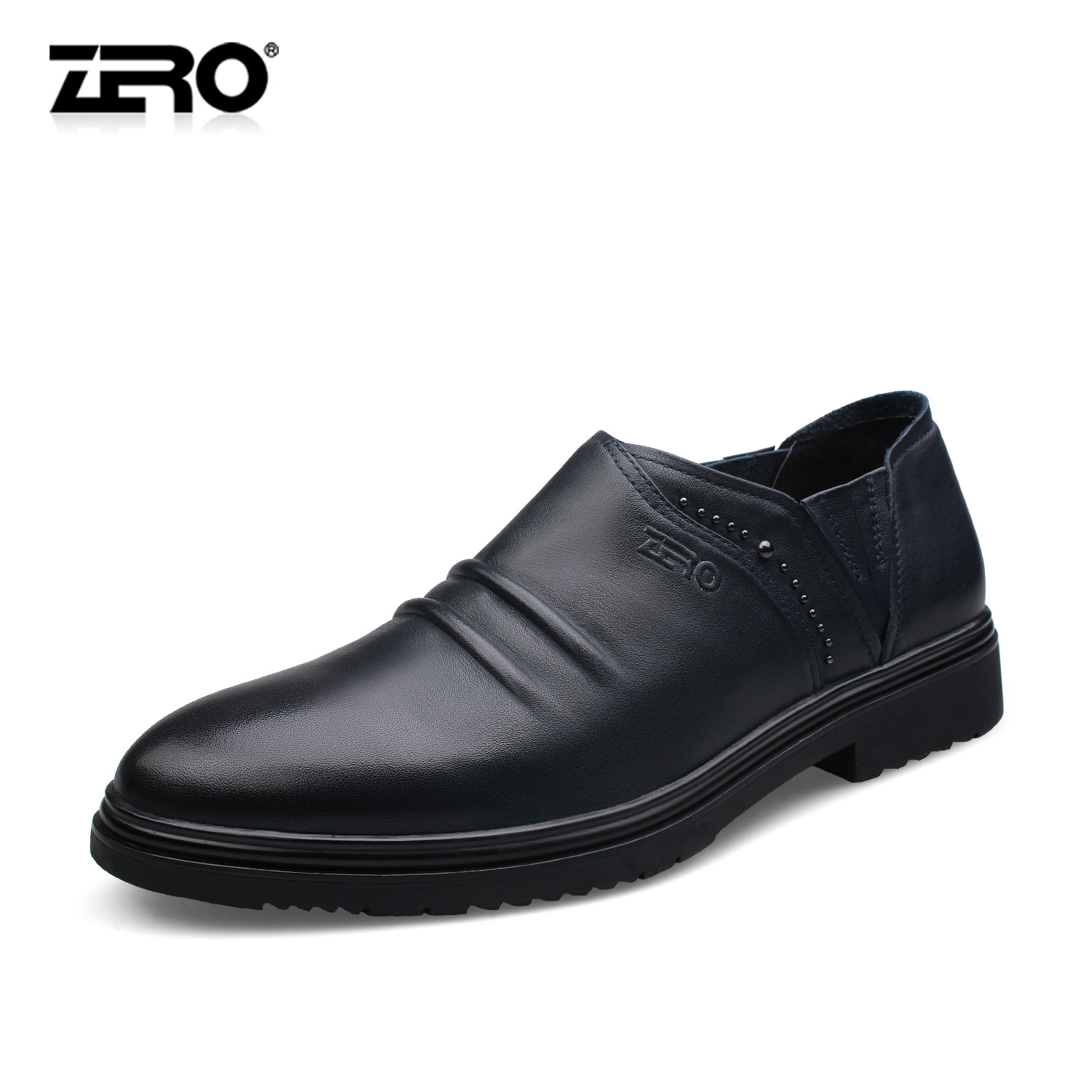 Zero zero autumn mens business casual shoes fashion leather soft soled leather shoes british male shoes