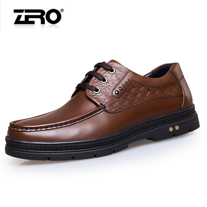 Zero zero business shoes autumn new leather men's comfort cushioning thick crust increased high shoes casual shoes men
