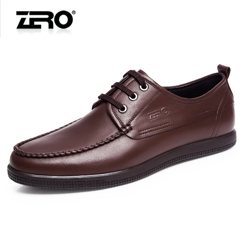 Zero zero casual shoes 2015 autumn new high leather shoes handmade men's business casual and comfortable leather soft