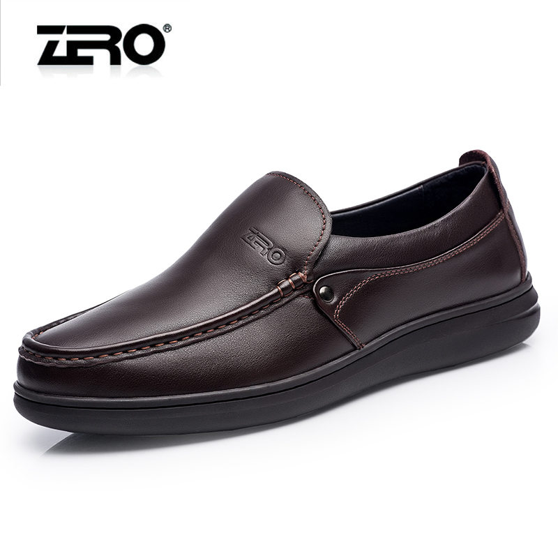 Zero zero upscale men's 2015 autumn bottom cushion massage comfortable first layer of leather business casual leather shoes