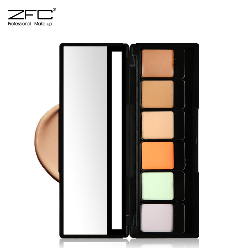 Zfc genuine six color concealer natural trace trimming waterproof foundation cream to cover dark circles freckles acne scars
