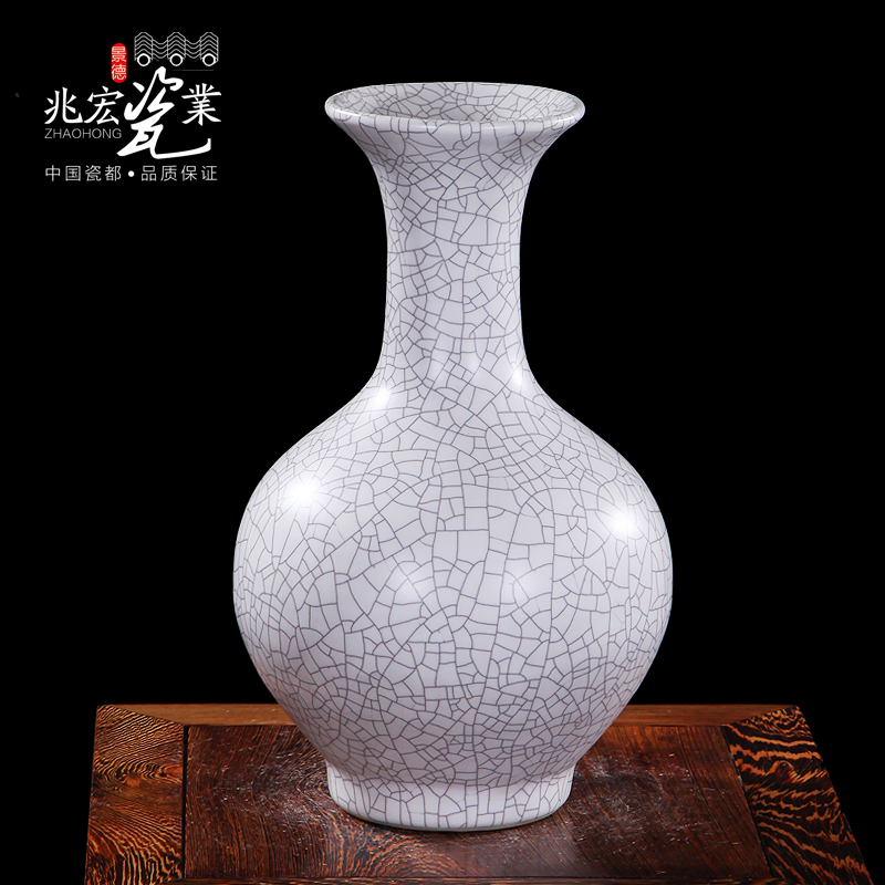 Zhaohong jingdezhen ceramics classical modern chinese living room matt open piece of antique porcelain vase ornaments reward bottle