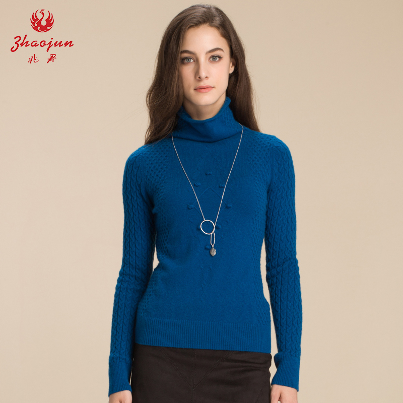 Zhaojun new piles collar cashmere sweater women pullover sweater rib style sweater bottoming shirt pullover