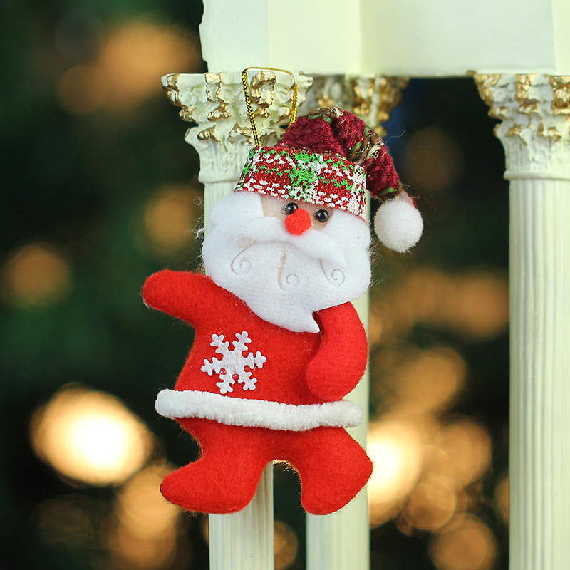Zhe xi shun christmas supplies christmas shop window desk 15*5 christmas tree santa claus snowman pendant