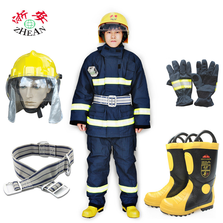 Zhejiang ann 2002 type thick fire command clothing fire service fire protective clothing fire fighting service fire disaster five pieces Set