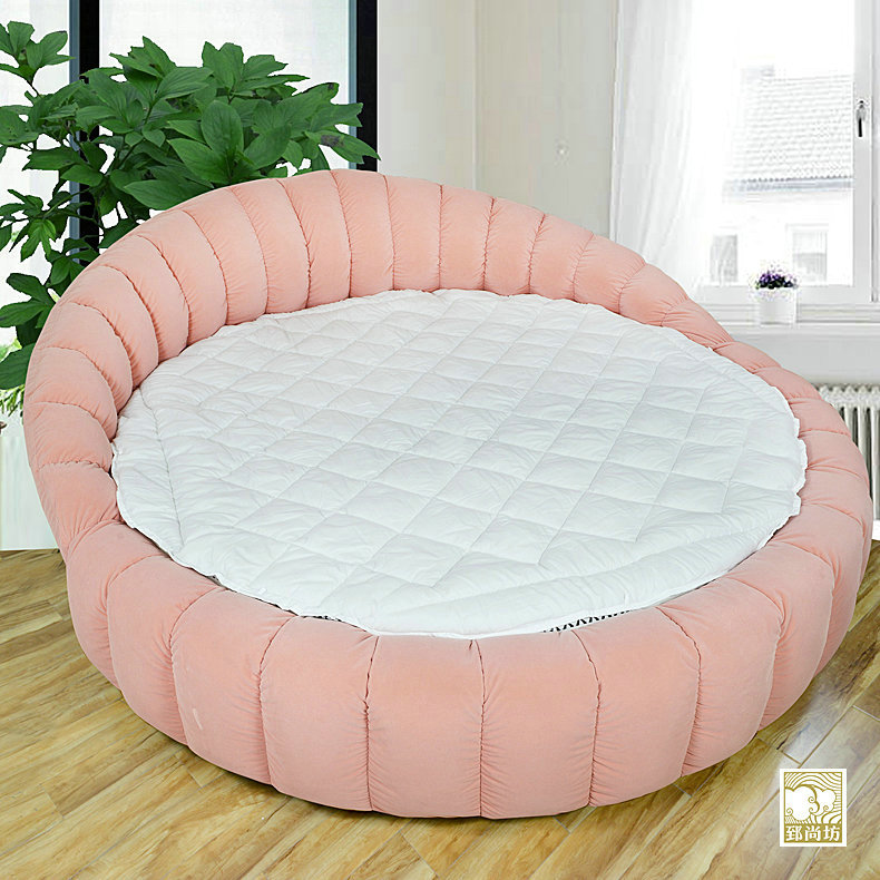 Zhi shang fang washable custom thick hotel bed round bed mattress bed mattress core customized product u shaped pad