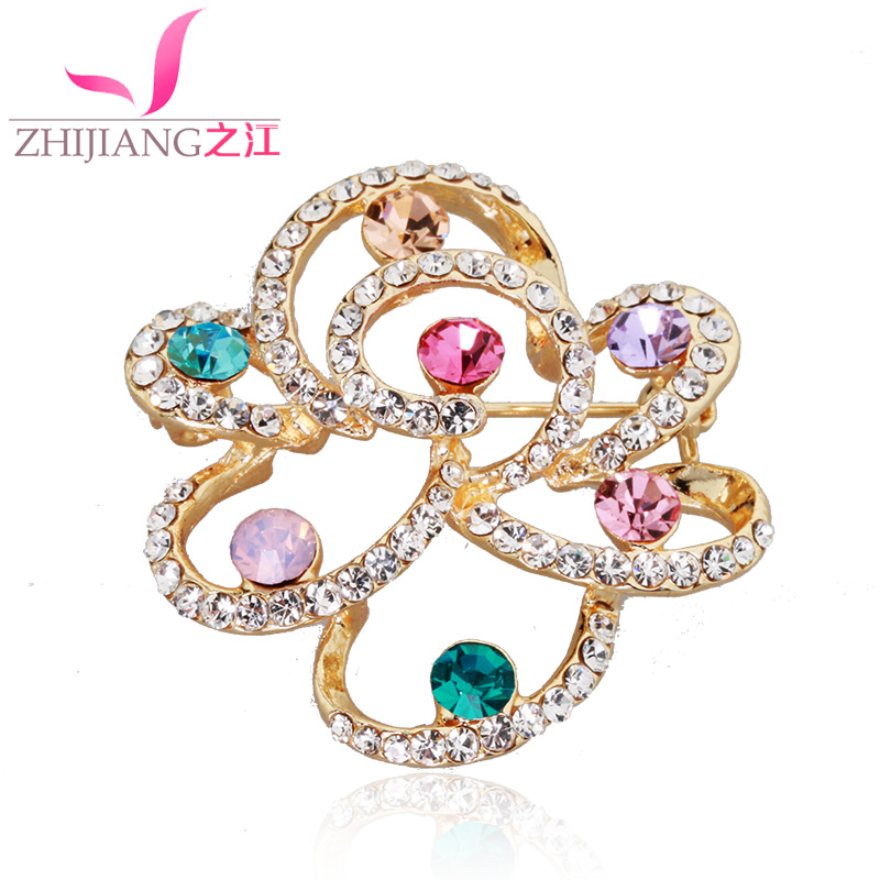 Zhijiang roses ms. accessorise fit'suit rhinestone brooch scarf buckle pin brooch sweater shawl buckle