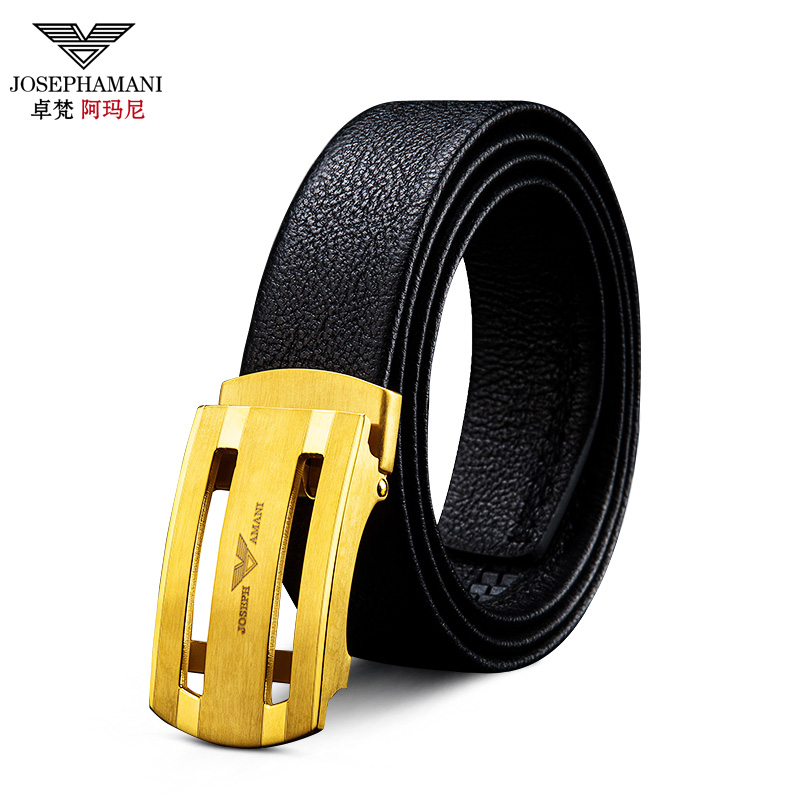 Zhuo fan armani leather belt men's automatic buckle belt buckle new pure leather belt wild youth