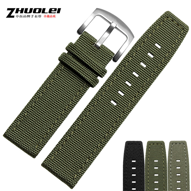 Zhuo lei leather strap waterproof nylon lumei northrop men applicable iwc watches with a pilot series 22mm