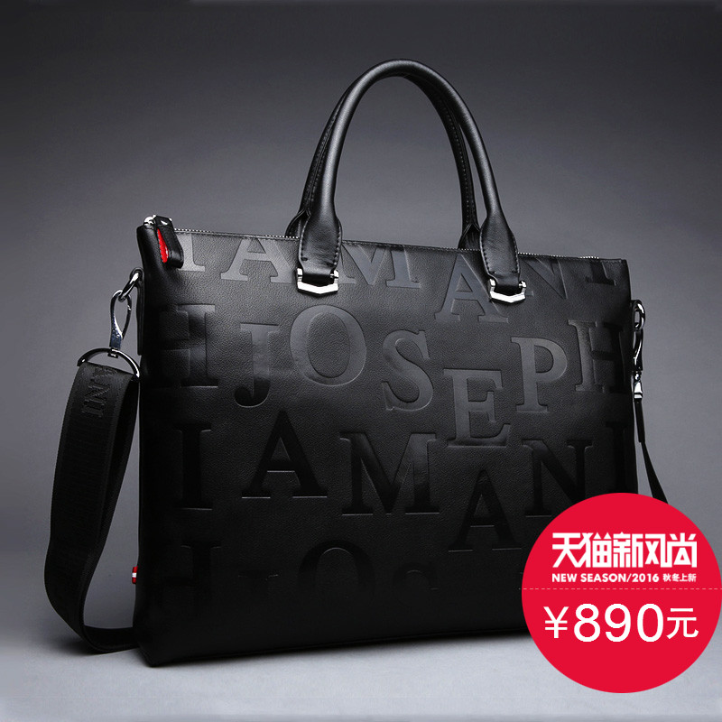 Zhuo vatican genuine armani big bag handbag cross section header layer cowhide leather bag men's briefcase computer bag