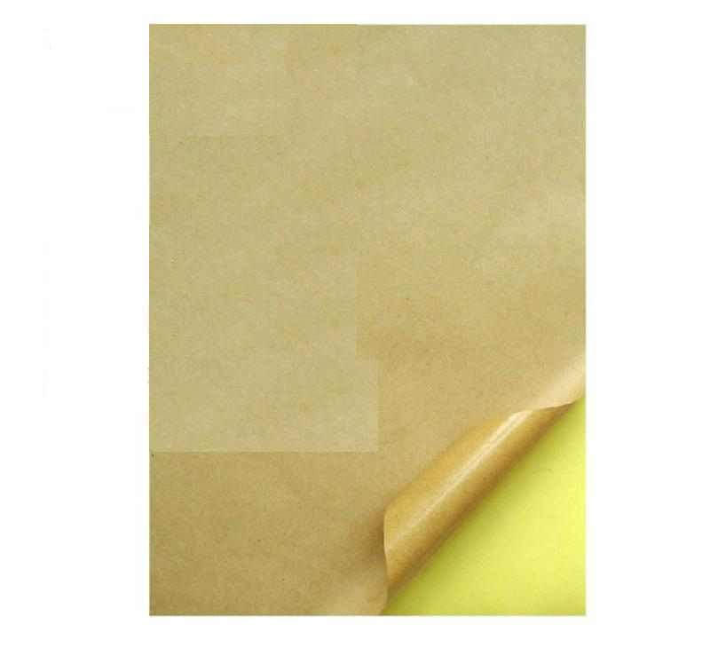 Zhuolian/zarlink laser inkjet a4 kraft paper kraft paper adhesive label can be printed