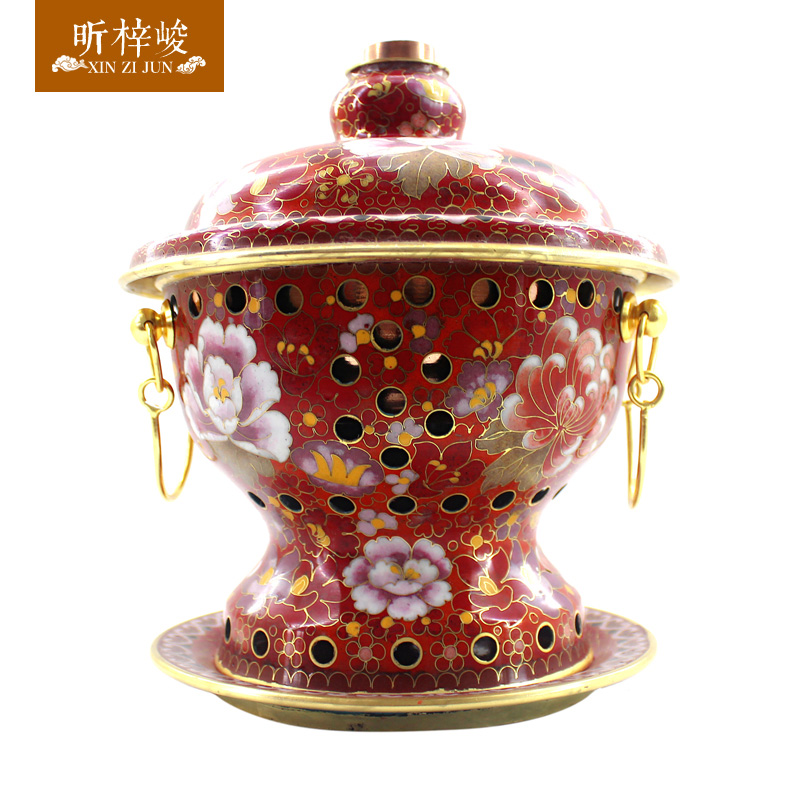 Zi xin cloisonn finishing thick pure copper copper copper pot alcohol stove pot a person a single small pot Furnace