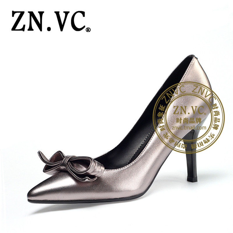 Znvc Butterfly Wedding Shoes Fine With Pointed Autumn New Sets Foot Shallow Mouth