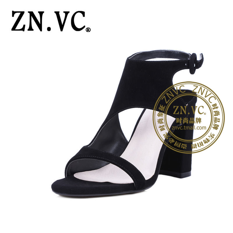 Znvc ms. european and american style summer fashion sexy wild personality to help low toe thick with cool shoes 2740
