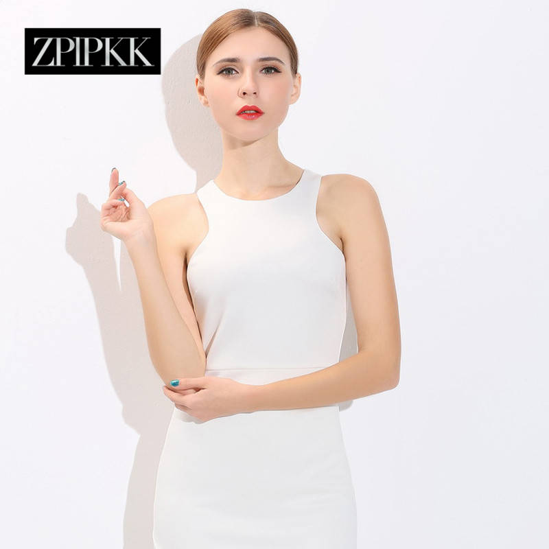 Zplpkk custom 2016 spring and autumn new slim sexy package hip vest dress elegant bridesmaid dress wedding ceremony clothing