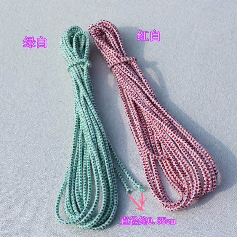 0.35 cm fine red and white elastic band round elastic rope line of high elastic rubber band elastic garment accessories elastic band round the old
