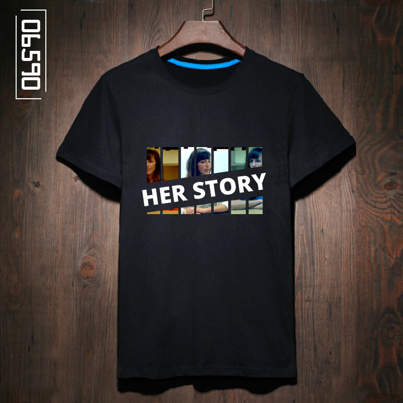 06590 gaming pc single game peripheral clothes her story student printing t-shirts for men and women short sleeve tide