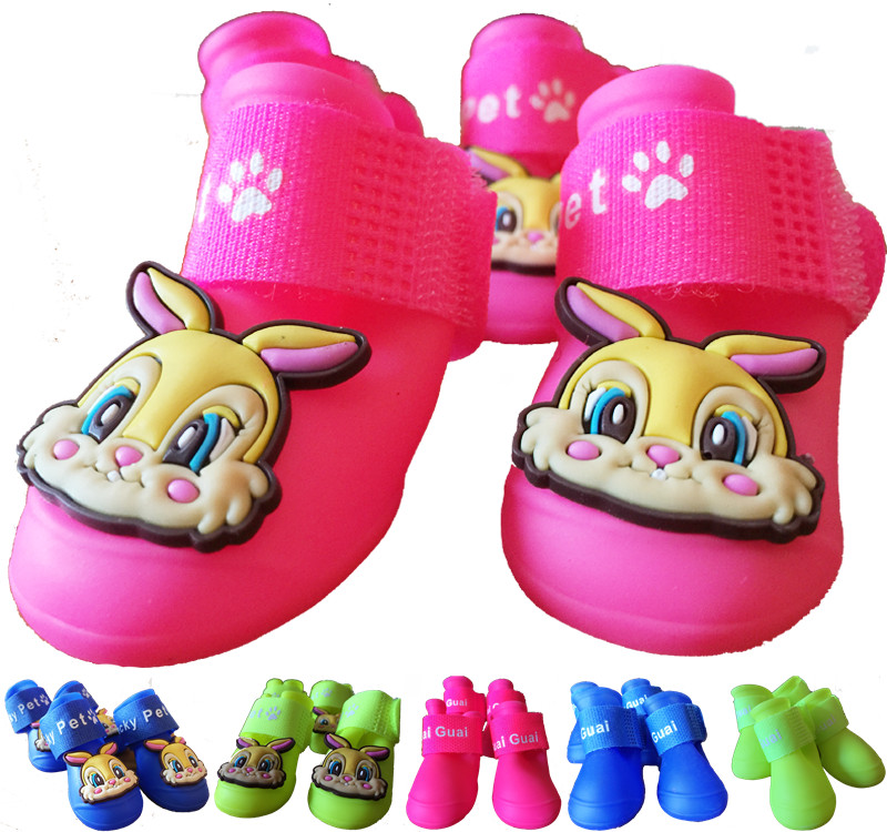 1 free shipping pet dog rain boots shoes jelly shoes waterproof shoes slip shoes teddy vip dog