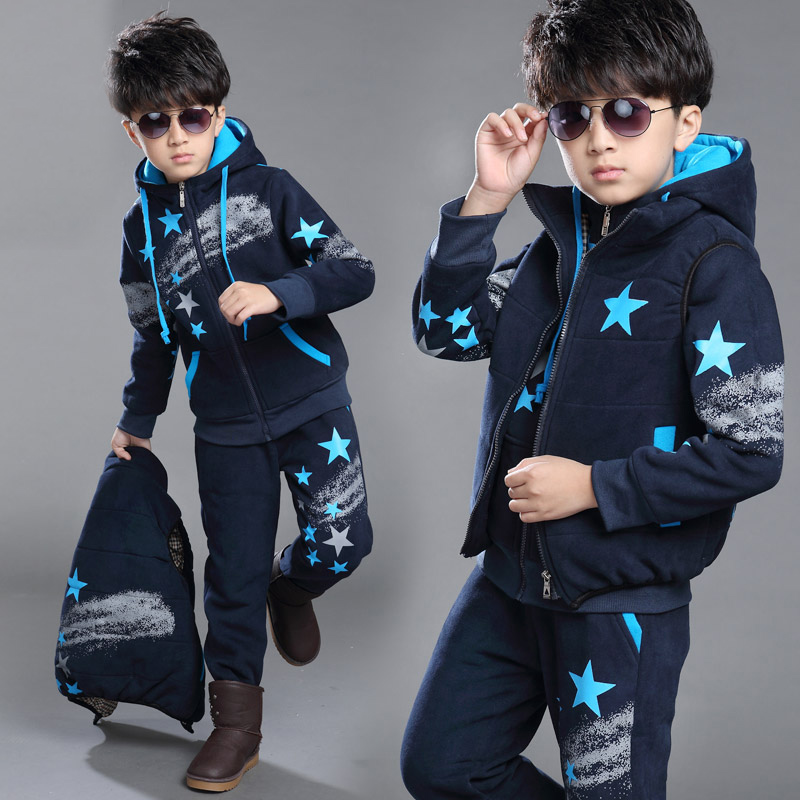 10 autumn and winter children's clothing boys suits 12 winter clothes 13 adolescent boys 2016 children 14 sports men's big boy 15 years old