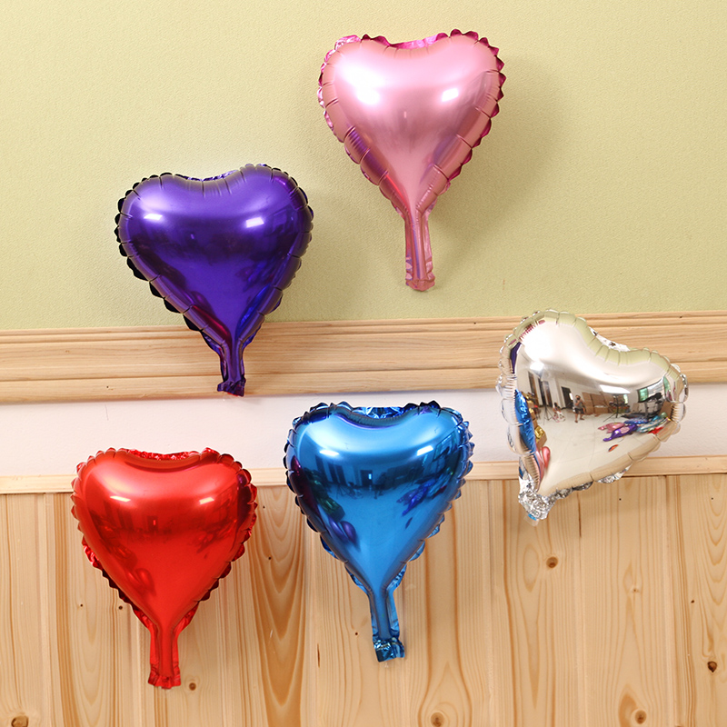10 cunxin shaped aluminum ball wedding marriage love aluminum balloons foil balloons birthday party decoration heart shaped