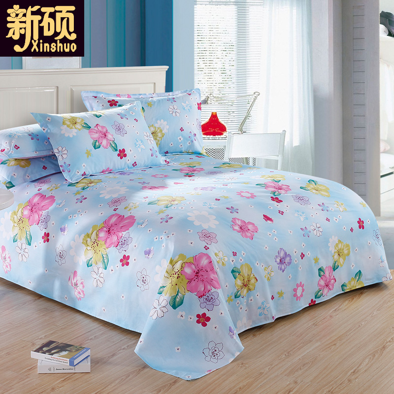 100% autumn and winter blankets student dormitory cotton linens single double single cotton home textile 1.5 m bed 1.8 m