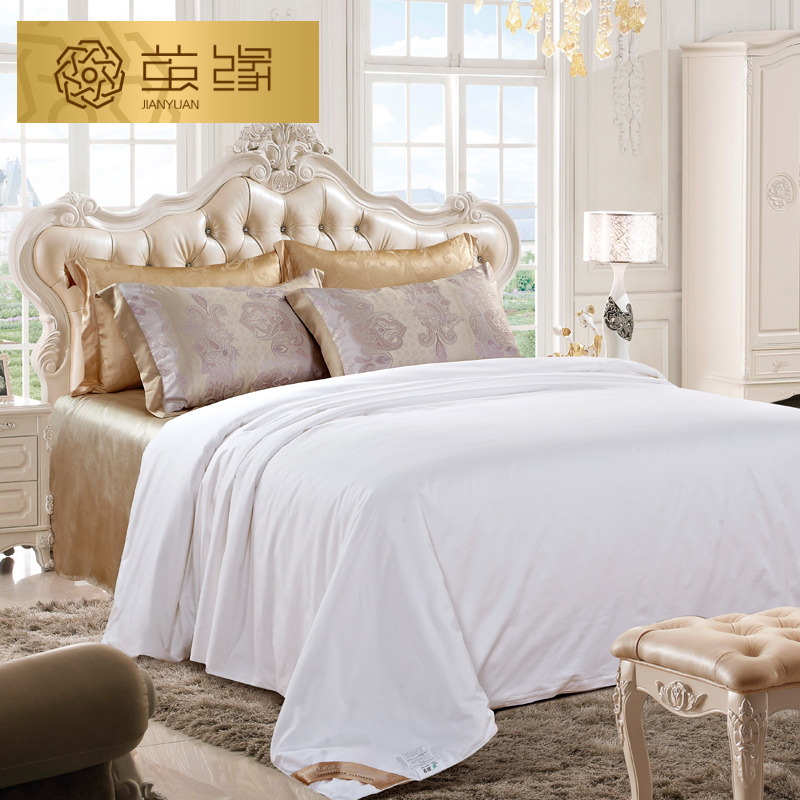 100% mulberry silk cocoon edge cotton cotton children's summer was cool in the summer air conditioning is the core quilt double palace silkworm filament