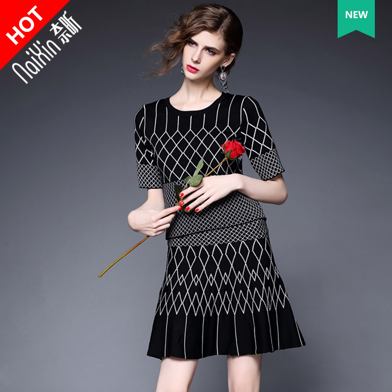 100655 new suit2016 nai xin custom ladies fashion ladies temperament slim short sleeve fashion suit