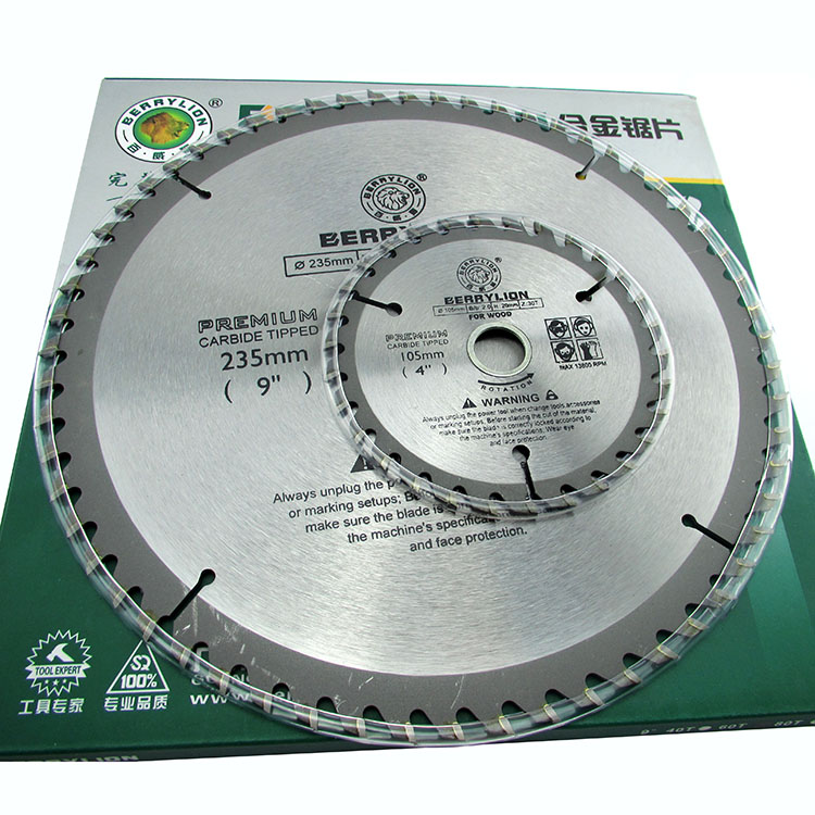 Berry lion/budweiser lion alloy electric circular saw blades woodworking saw blade alloy aluminum plate with a saw blade