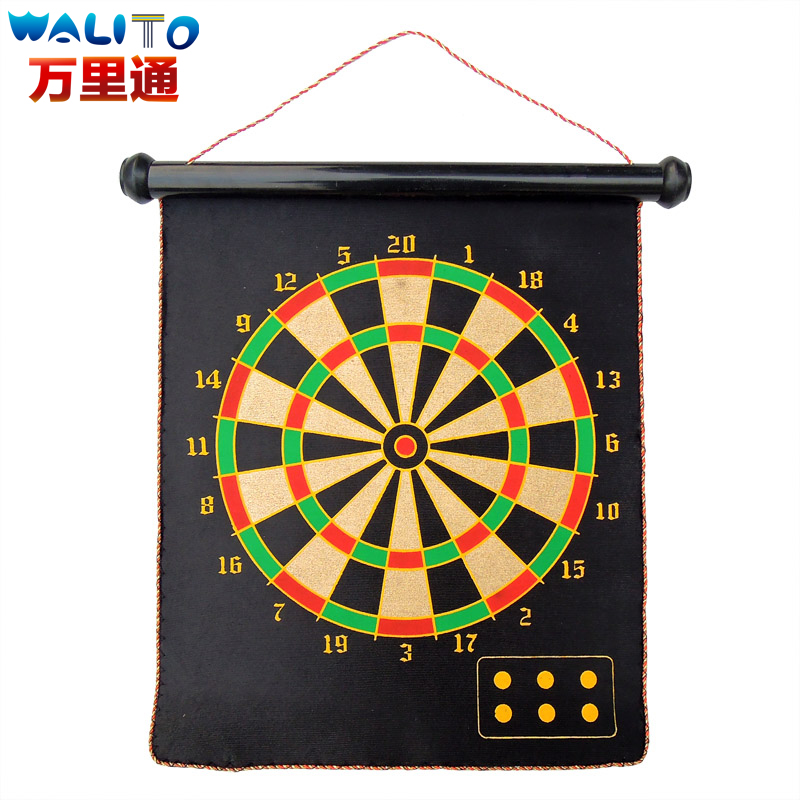 Genuine free shipping oversized thickening sided magnetic dartboard safety dartboard darts suit adult children