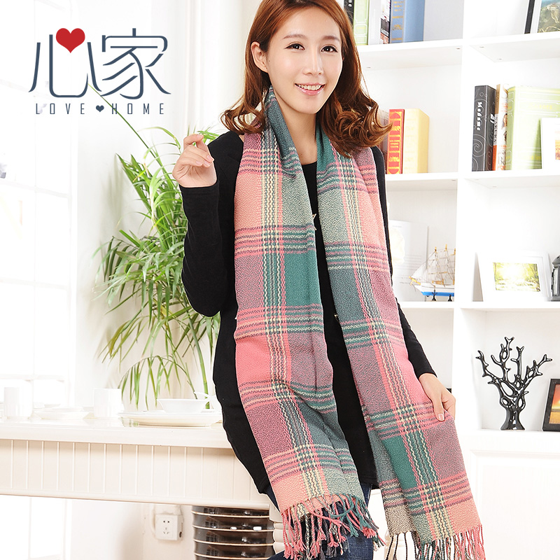 Heart house 2015 autumn and winter scarves female korean version of the new long thick warm scarf scarf cute female students