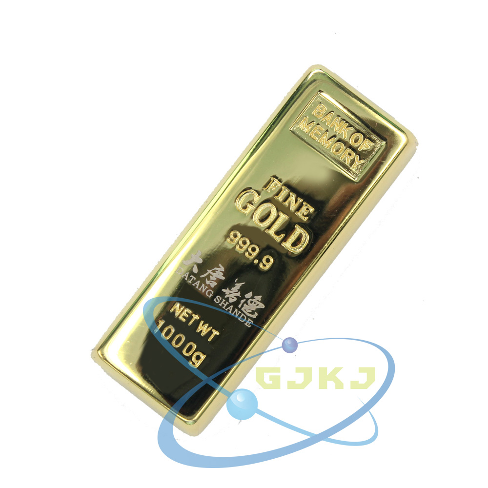 Gjkj bric gold bullion u disk u disk 16g u disk metal u disk u disk advertising logo