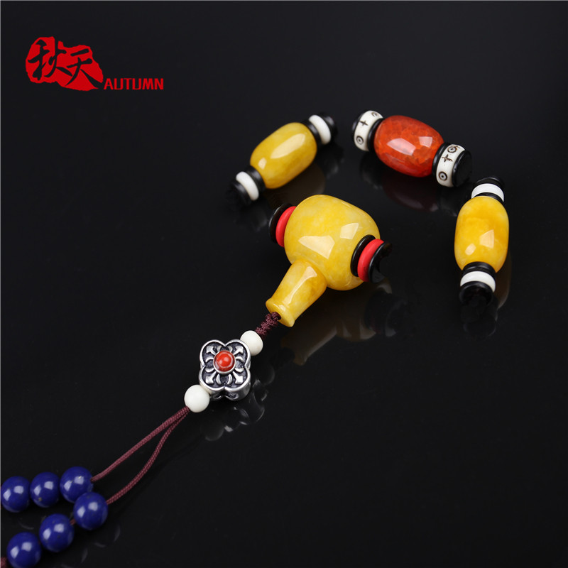 108 autumn moon and stars bodhié¢entire accessorise yellow chalcedony tee red agate beads waist beads diy accessories accessories package