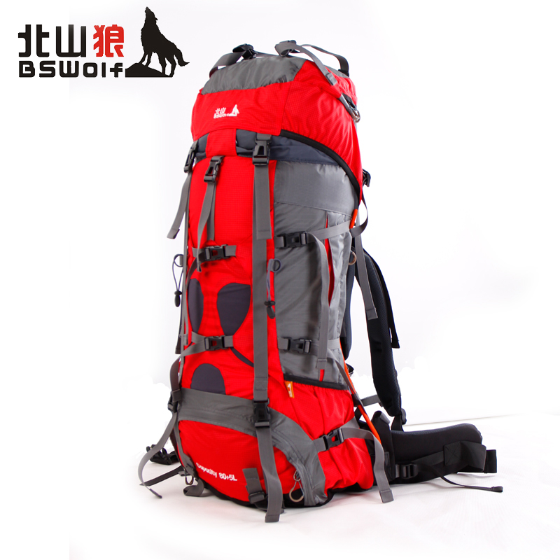 Kitayama wolf outdoor mountaineering bag shoulder bag authentic travel backpack outdoor camping 85l backpack riding package b027