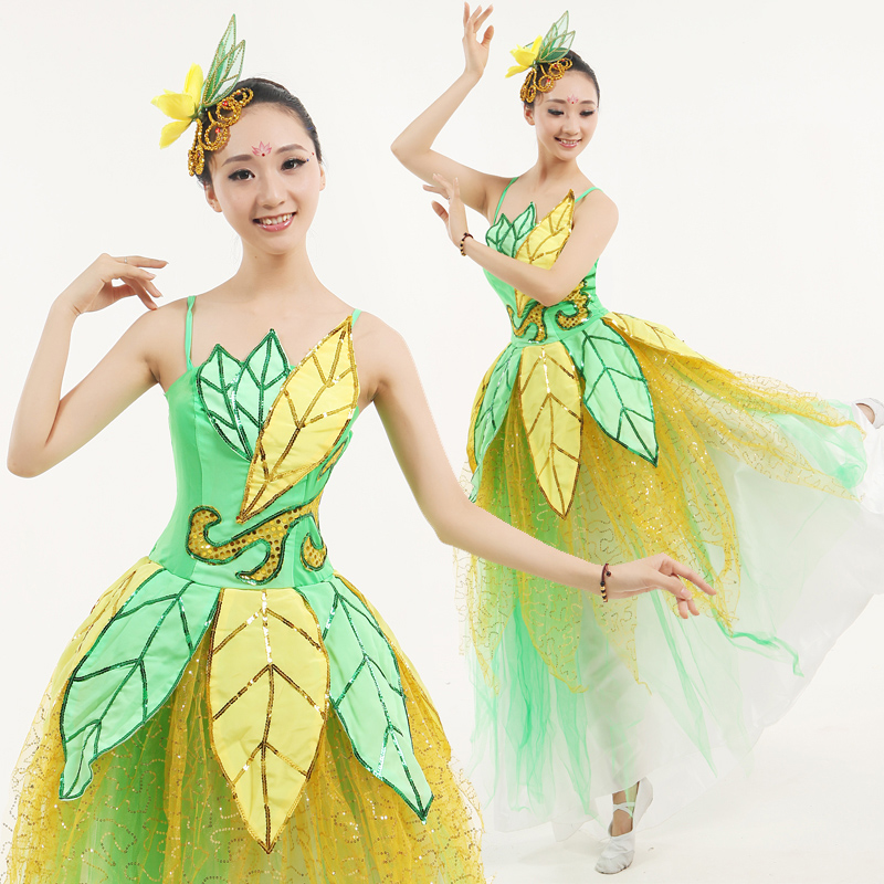 92839535252dc Get Quotations · 2016 of the new leafy lotus dancers dancers opening dance  costume dance costume new square dance