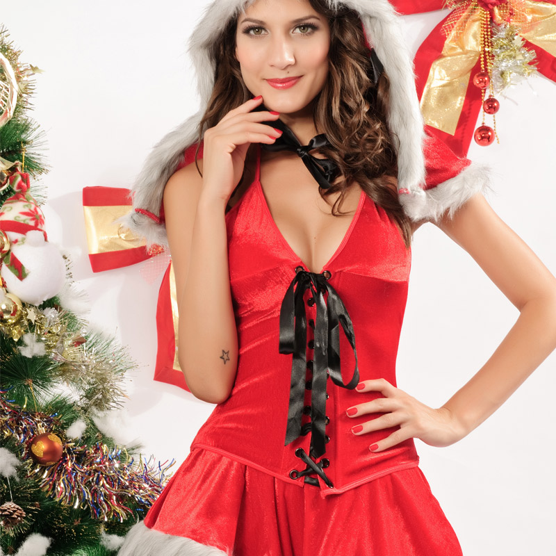 The most romantic thing 2015 hot new european and american abraceneeds to three sets of christmas christmas dress 7177