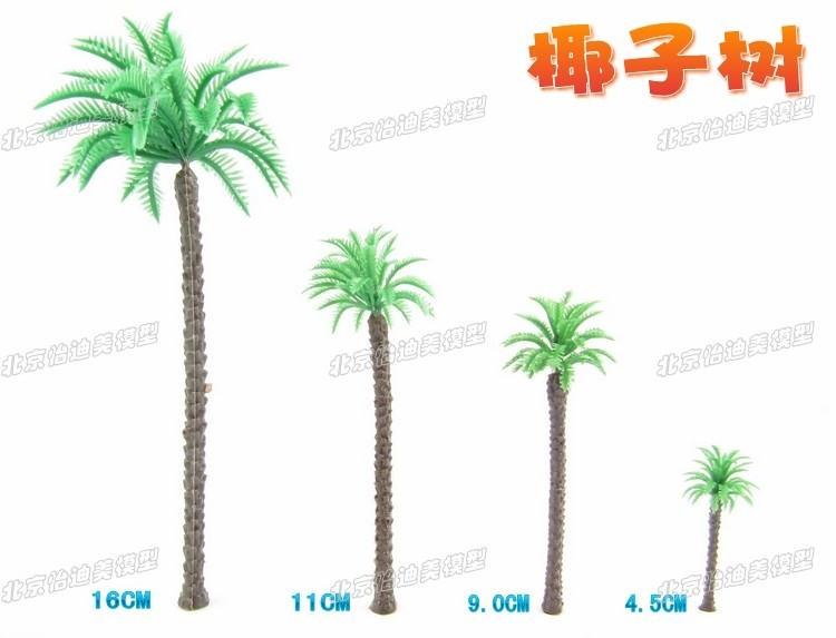Sand table model material model making materials scenes finished tree trunk trees coconut trees