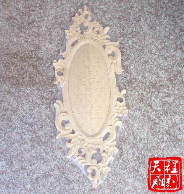 Dongyang wood carvings continental furniture accessories wardrobe furniture decorative flower decals relief doors heart flower door flower applique