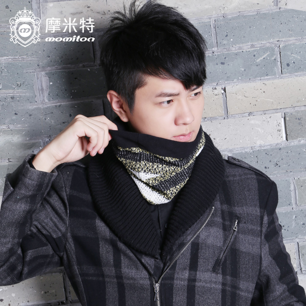 Momiton autumn and winter influx of korean men and women wool cashmere double warm scarf knit collars