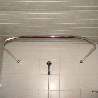 Jia mo authentic thick sus304 stainless steel u shaped copper shower curtain rod size set as a gift hole saw