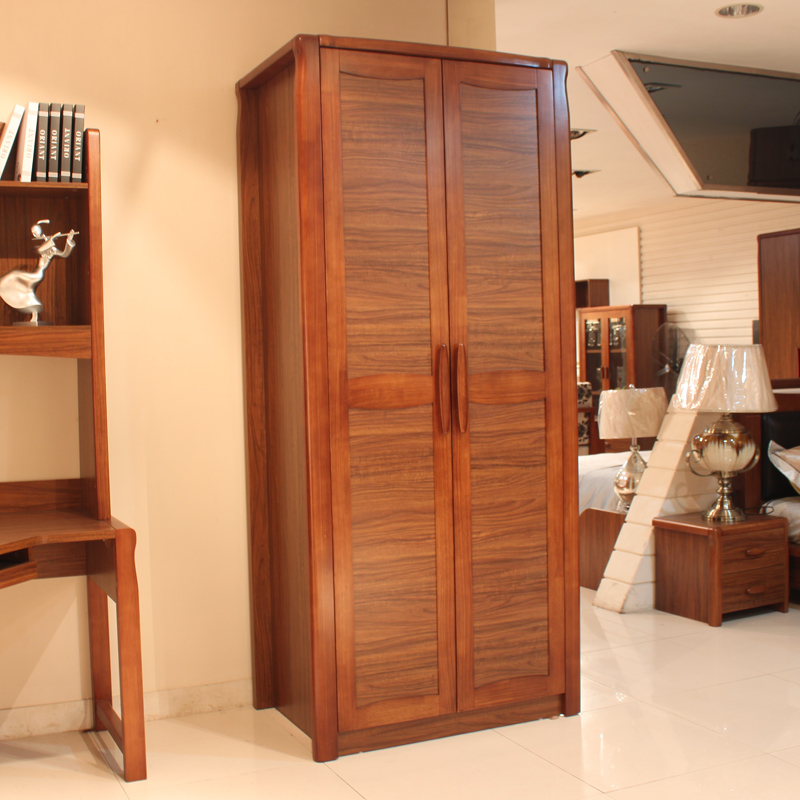 Modern chinese ugyen wood color wood furniture fashion simple children's wardrobe closet two door cabinet specials