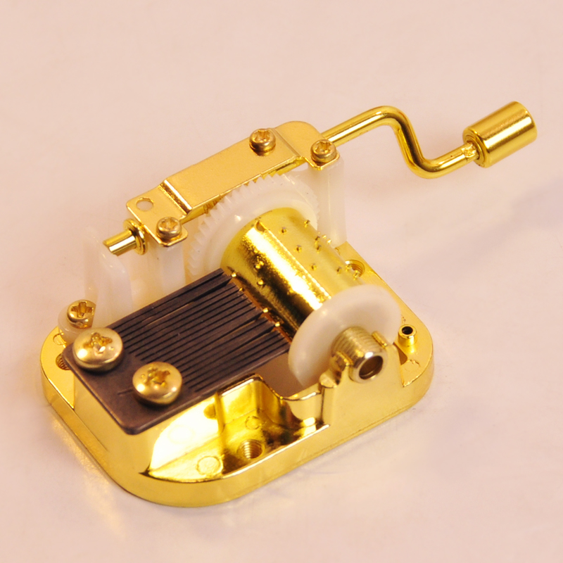 Genuine sankyo cranked music box music box movement more songs send optional accessories can diy