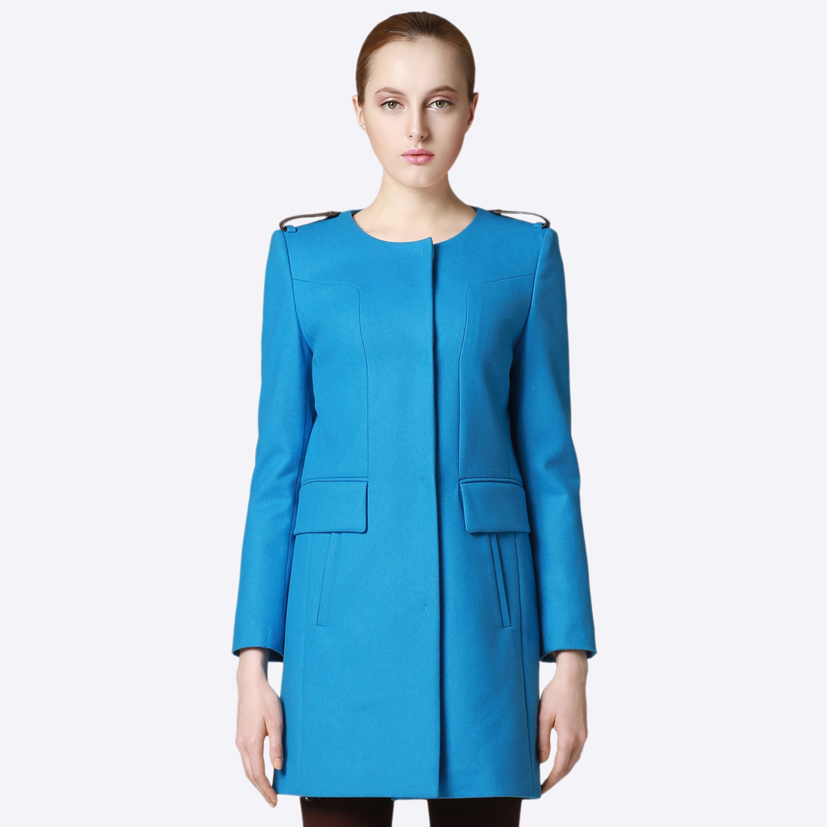 New women's winter stevevivian 2014 h type wool collarless wool coat and long sections *